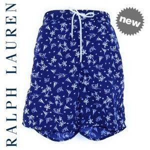 RALPH LAUREN Hawaiian Beach Shorts Men XL